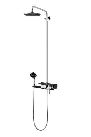 Shower column Corsan Klar Fiber CMN002 chrome / white