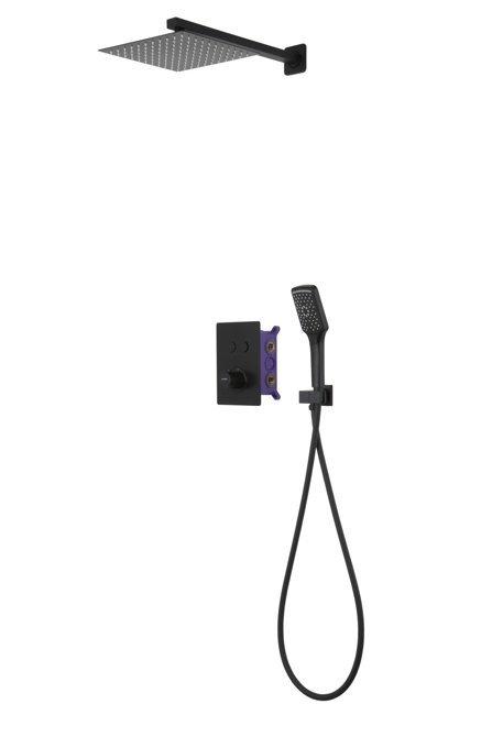 Unterputz Duschsystem Corsan 646994 schwarz + BOX / Thermostat